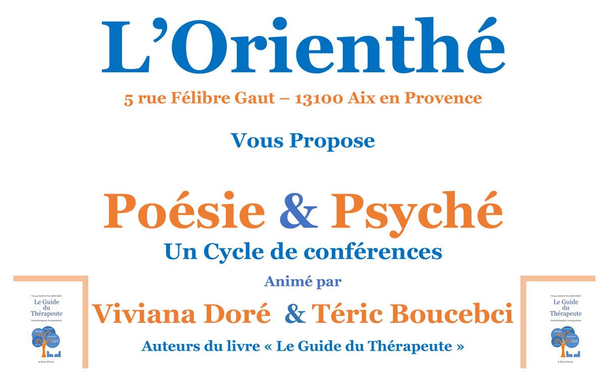 Dimanche 14 octobre 2018 - Conférence poésie et Psyché